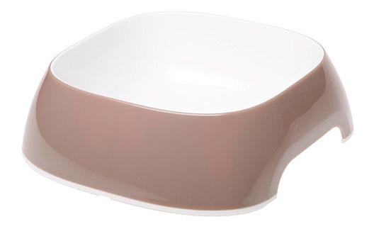 Одинарная миска для собак Ferplast, пластик, серый, белый, 0.75 л фото