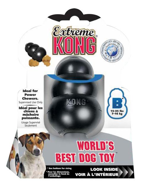 Игрушка для лакомств для собак KONG Extremel Kong, черный, длина 8 см