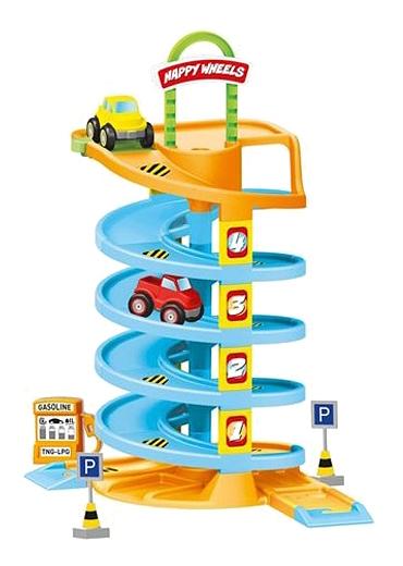 Игровой набор Dolu Спиральная дорога с машинками
