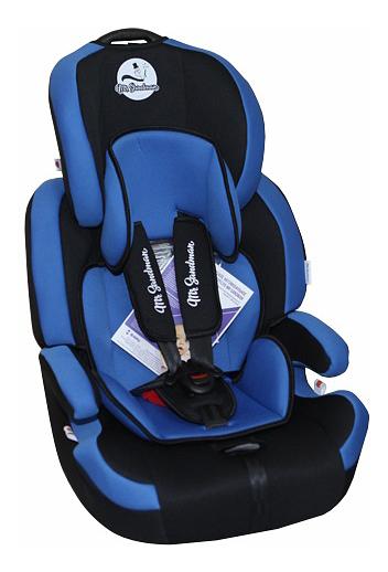 Купить Автокресло Mr Sandman Voyager Isofix группа 1/2/3, Черный, Синий, Детские автокресла