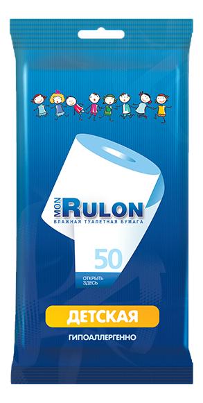Туалетная бумага Mon rulon детская влажная 50 шт..