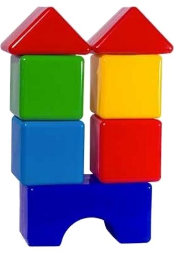Купить Набор кубиков ПЛАСТМАСТЕР 14023 Стройка, Пластмастер, Развивающие игрушки