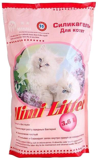 Впитывающий наполнитель для котят Mimi Litter силикагелевый,