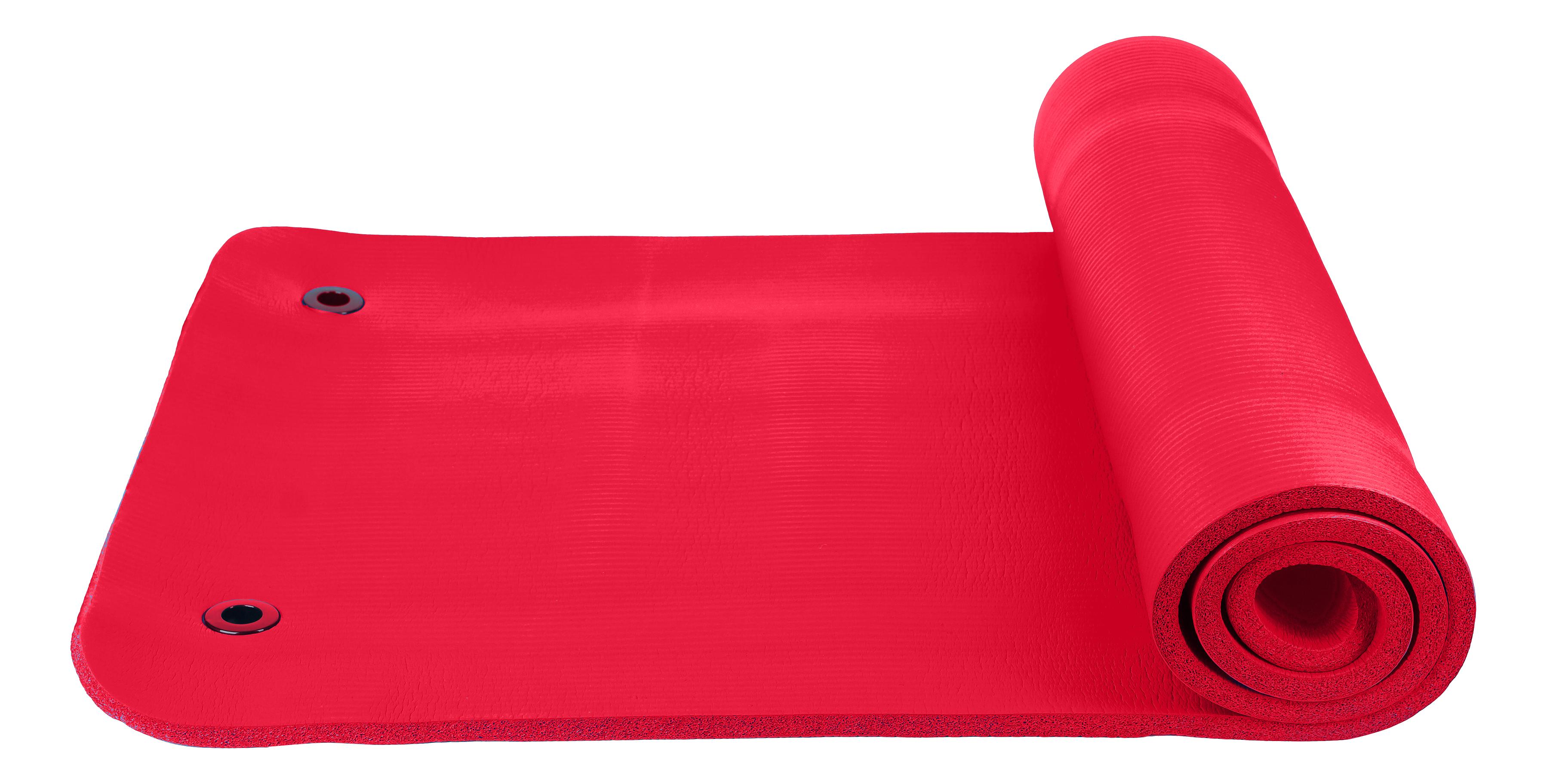 Коврик для фитнеса Fitnessport FT-EM-10-R красный 15 мм