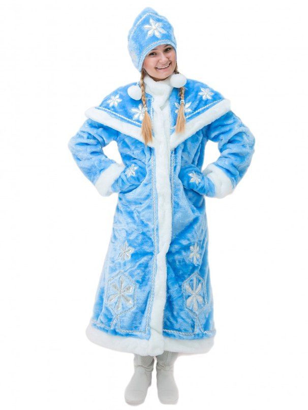 Карнавальный костюм Снегурочка Люкс взрослый 1384 р.44