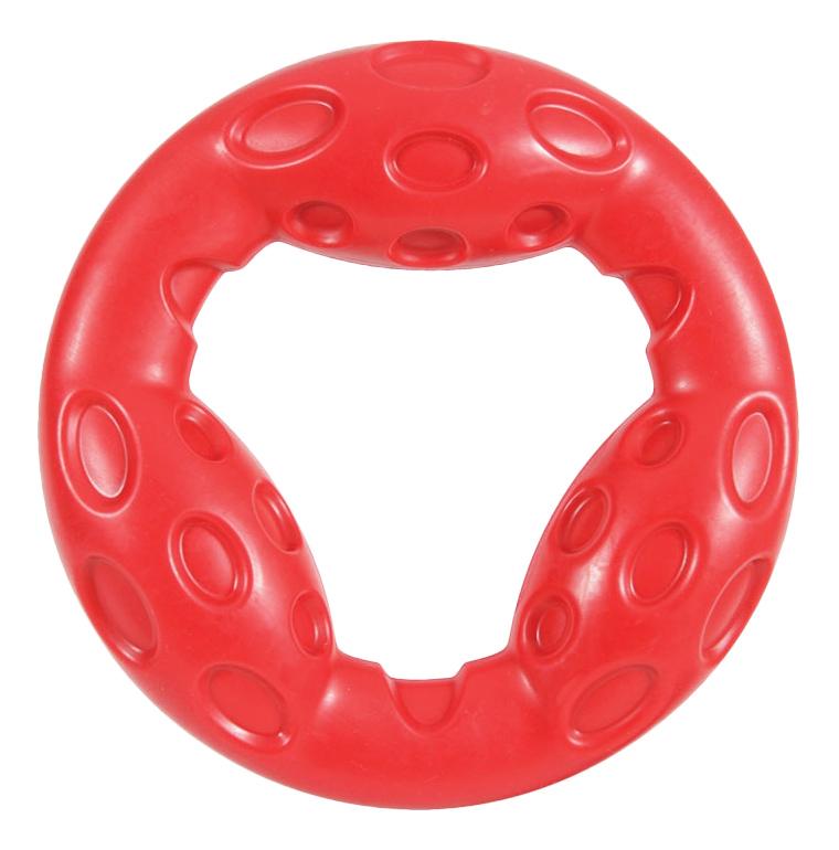 Жевательная игрушка для собак ZOLUX Кольцо, красный, 18 см