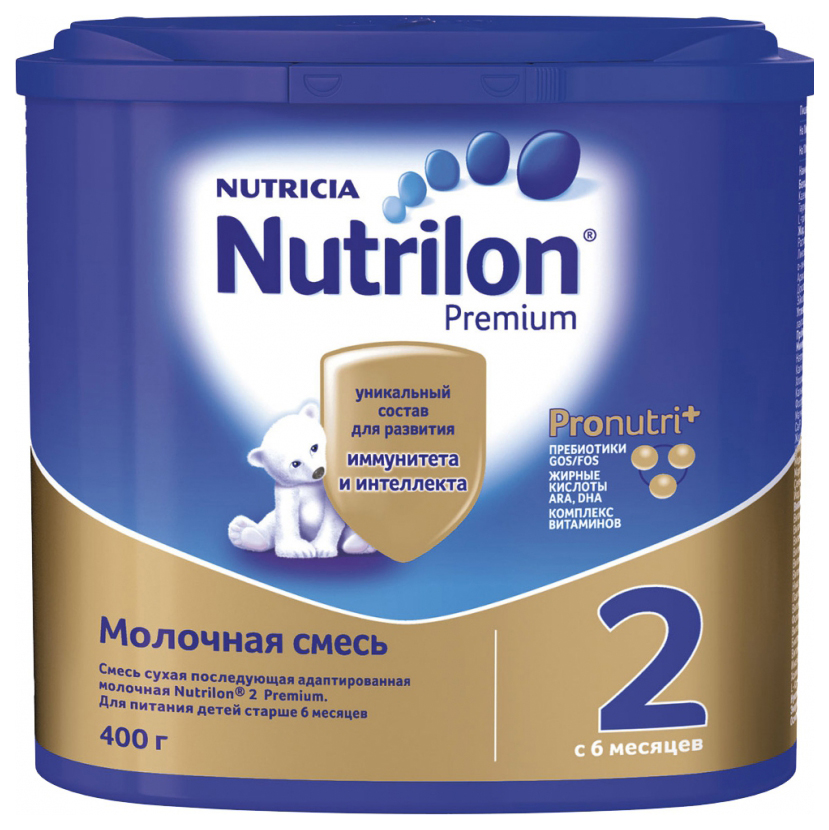 Молочная смесь 2 (от 6 до 12 мес.) Nutrilon Premium 400 г