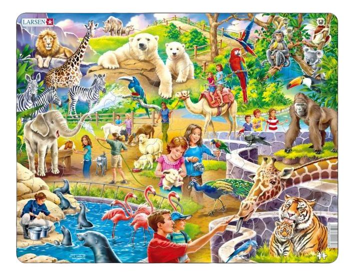 Купить Пазл Зоопарк 48 элем. Larsen US30, Пазлы