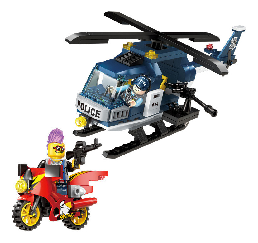 Конструктор пластиковый Brick Полицейский вертолет фото
