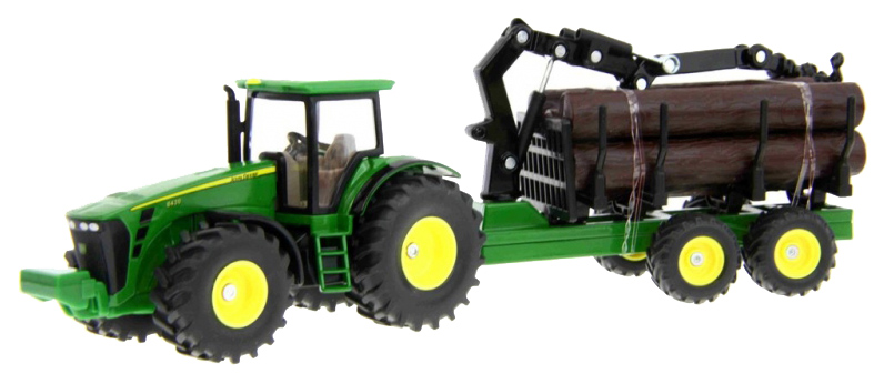 Купить Трактор с трейлером для лесоматериалов Джон Дир 1:50 1954, Спецтехника Siku 1954, Строительная техника