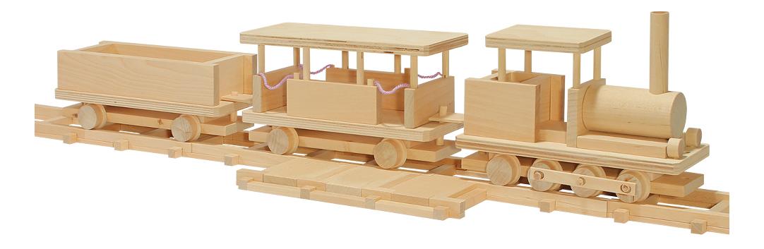 Конструктор деревянный ПЕЛСИ Деревянная рельсовая дорога