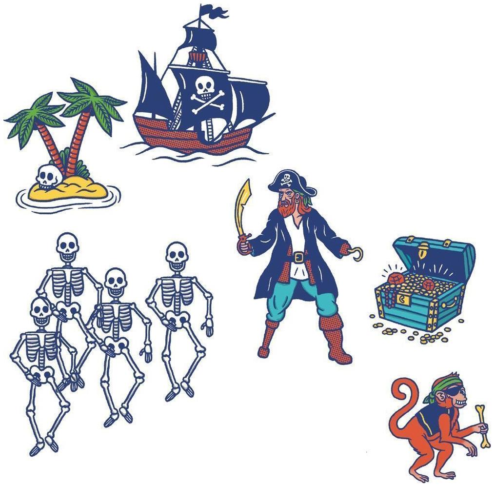 Купить Набор штампов Djeco «Пираты», Наборы для рисования