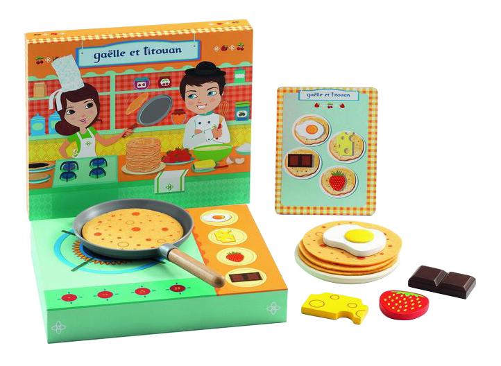 Набор посуды игрушечный Djeco Блинная Галлы