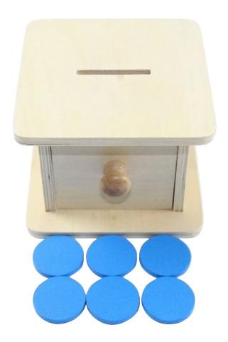 Купить Коробочка копилка, Деревянная игрушка для малышей Коробочка-копилка Paremo, Развивающие игрушки