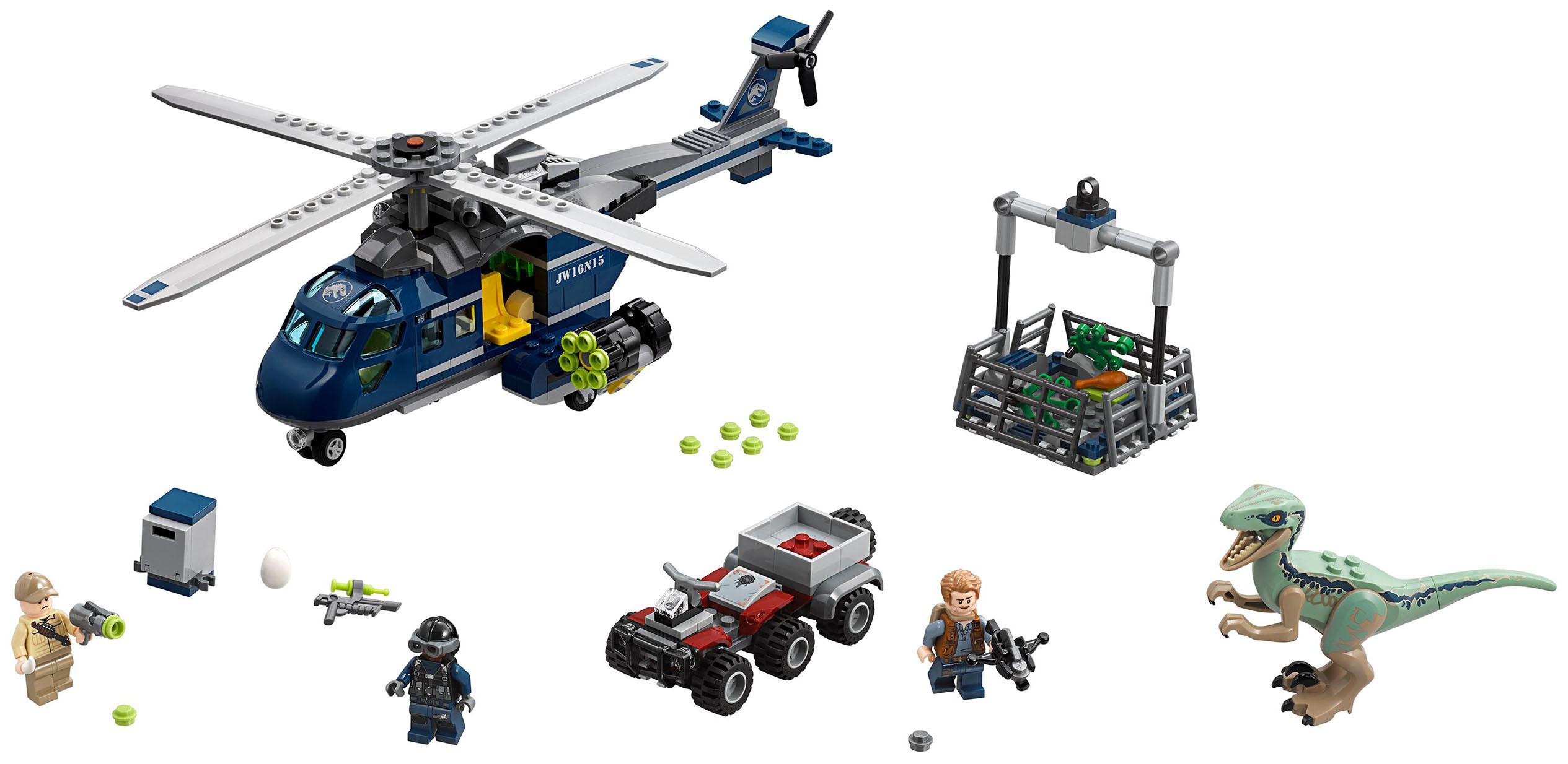 Купить Конструктор lego jurassic world погоня за блю на вертолете 75928, Конструктор LEGO Jurassic World Погоня за Блю на вертолете 75928