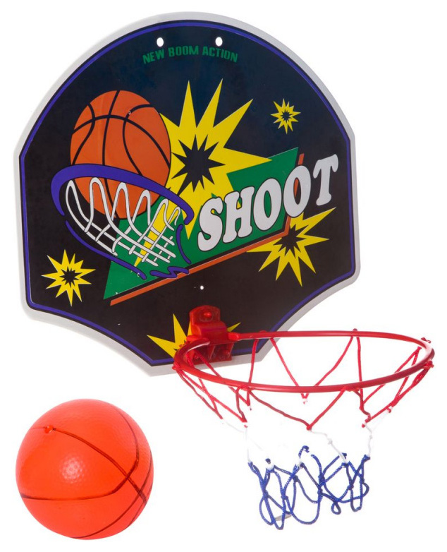 Баскетбольный щит с мячом и насосом Shenzhen toys 23 см Ф33650 фото