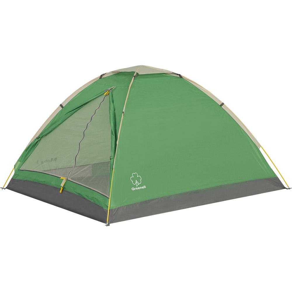 Палатка Greenell Моби V2 двухместная зеленая/серая