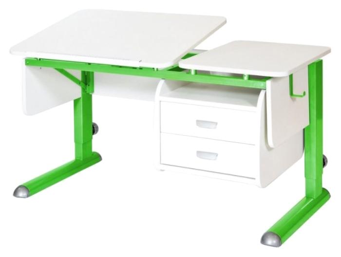 Парта Астек Твин 2 С подвесной тумбой Белый Зеленый