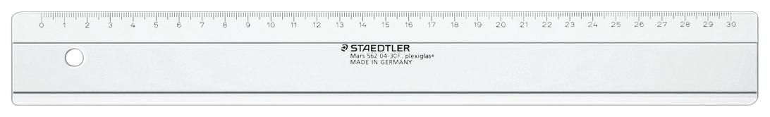 Линейка пластиковая прозрачная Staedtler 30 см