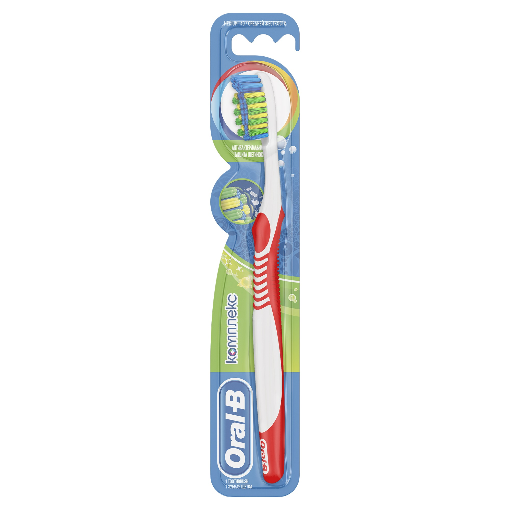 Зубная щетка Oral-B Комплекс Антибактериальная 40 средняя 1 шт