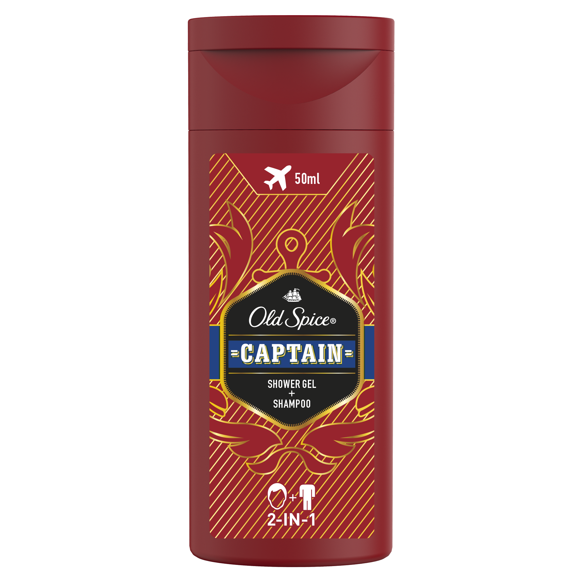 Гель для душа и шампунь Old Spice Captain 2в1 50мл