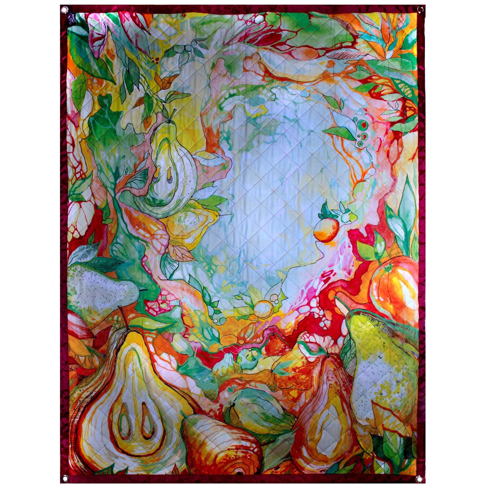 Пляжный коврик OnlyCute «Сказочный сад» бордо