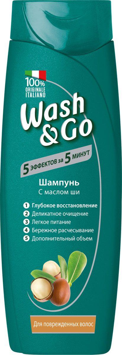 Купить Шампунь Wash&Go с маслом ши для поврежденных волос 200мл, Wash & Go
