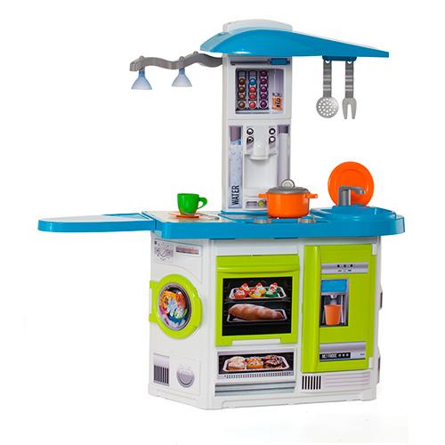 Купить Детская игровая кухня Molto 18150 со звуковыми и световыми эффектами 13 предметов, Детская кухня