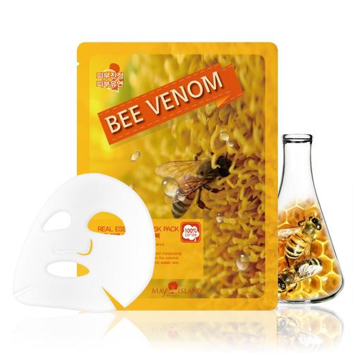 Маска для лица тканевая May Island Real Essence Bee Venom Mask Pack 25мл