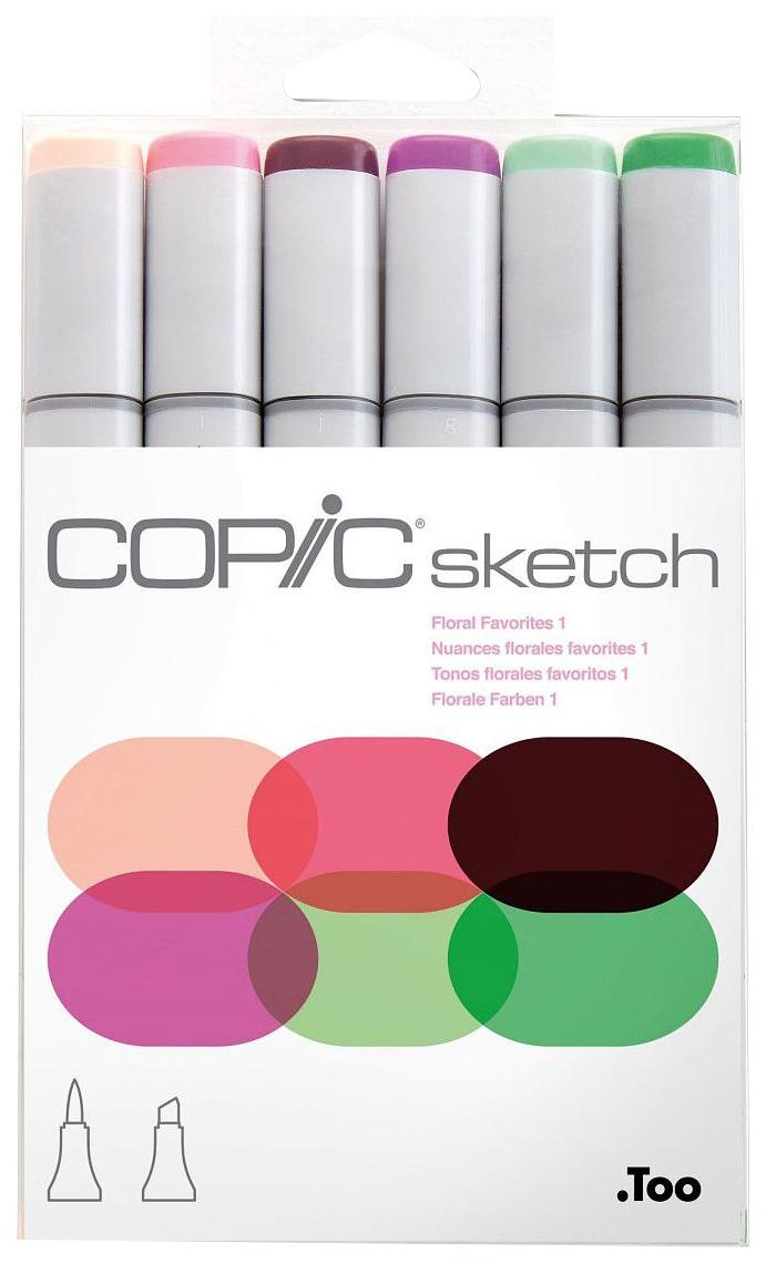 Набор маркеров Copic «Sketch. Цветочные 1» 6 цветов