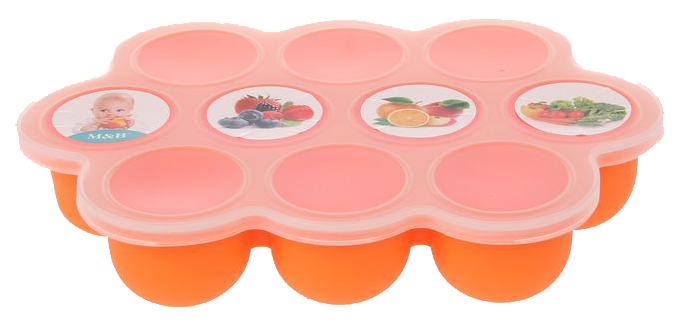 Контейнер пищевой силиконовый для хранения детского питания, 10 секций  Mum&Baby