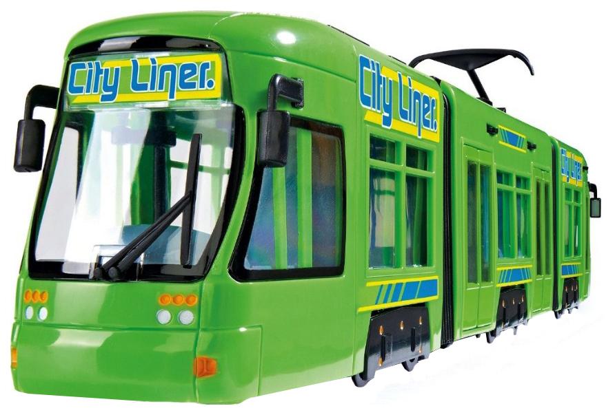 Купить Городской трамвай City Liner, зеленый, 46 см Dickie Toys, Городской транспорт
