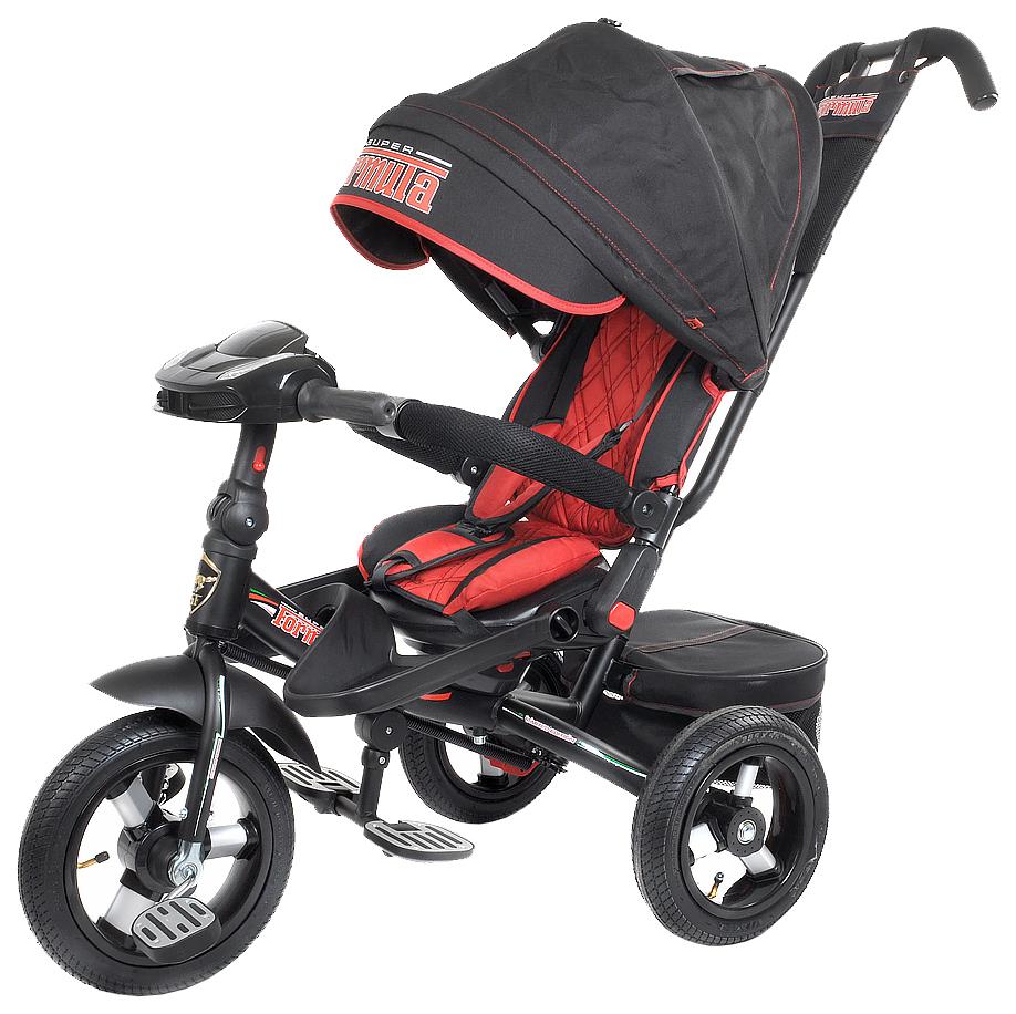Купить Трехколесный велосипед с ручкой управления (Bluetooth, свет, звук), черный Formula, Детские велосипеды-коляски