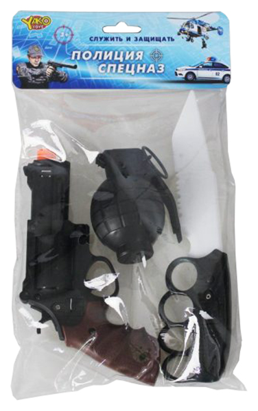 Купить Набор полицейского Наша игрушка револьвер, граната, кинжал, Детские наборы полицейского