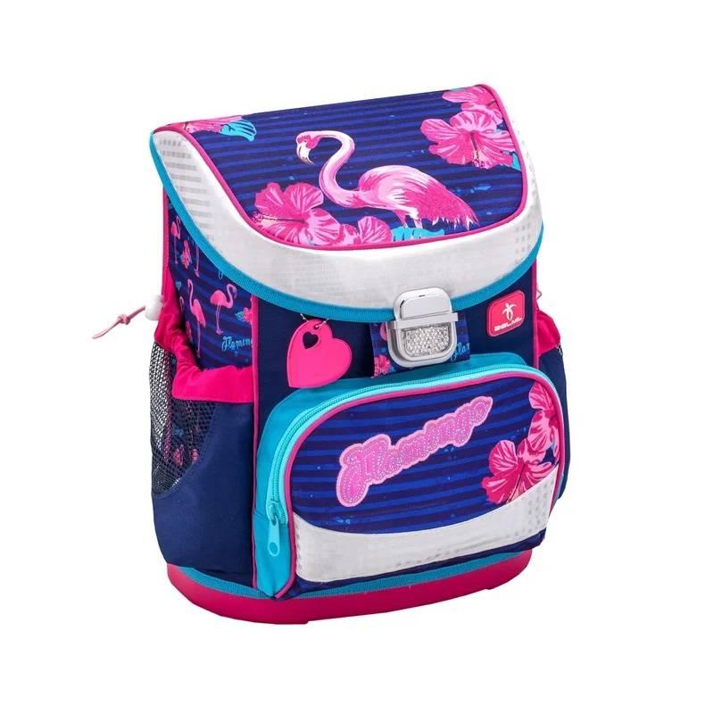 Купить Ранец Mini-Fit Flamingo Belmil для девочек Синий 405-33/704 FLAMINGO, Школьные рюкзаки для девочек