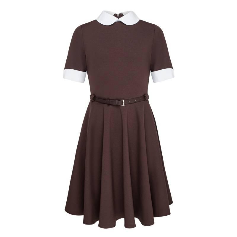 Купить Платье Смена, цв. коричневый, 164 р-р, Детские платья и сарафаны