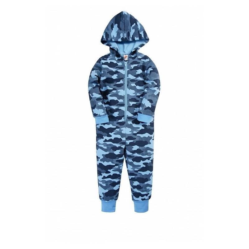 Купить Комбинезон Веселый малыш, цв. синий, 74 р-р, Трикотажные комбинезоны для новорожденных
