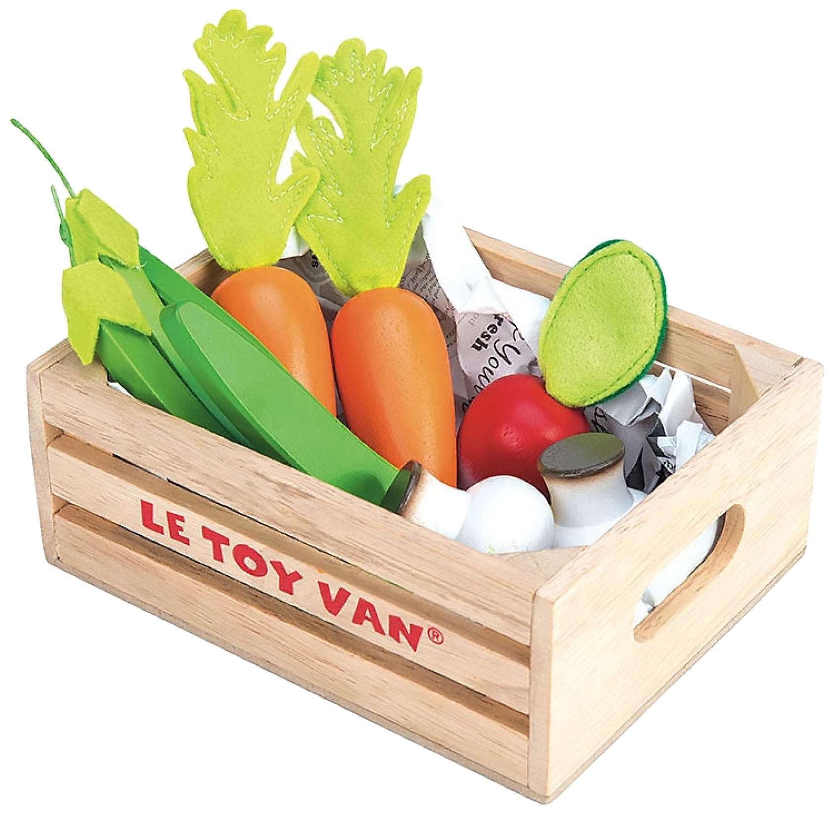Игрушечная еда Овощи в ящичке