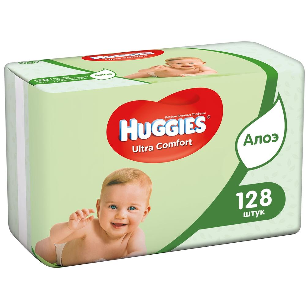 Детские влажные салфетки Huggies Ultra Comfort Aloe,