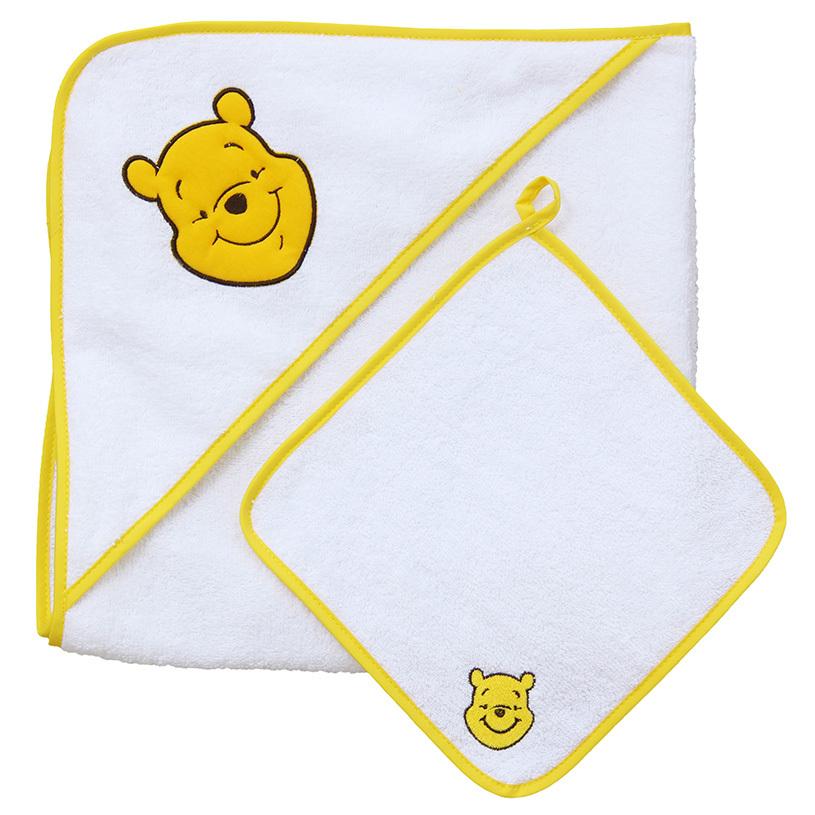 Купить Комплект для купания Polini kids Медвежонок Винни Чудесный день, 2 предмета, желтый, Горки и сиденья для купания