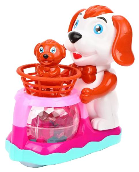 Купить Собачка с щенком э/ф, свет, звук, в ассорт., бат.AA*3 шт. в компл.не вх., кор., Наша игрушка, Интерактивные животные