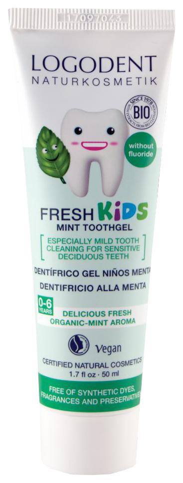 Детская зубная паста-гель Logona Logodent Мята 50 мл фото