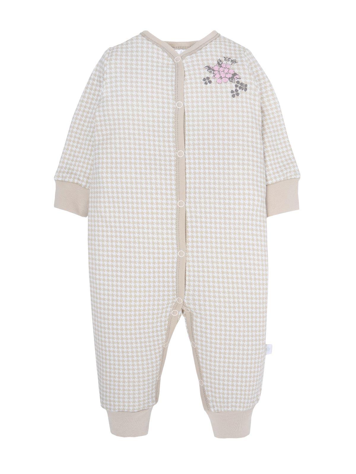 Купить Комбинезон для девочки Мамуляндия 19-801 Интерлок, Бежевый р. 68, Трикотажные комбинезоны для новорожденных