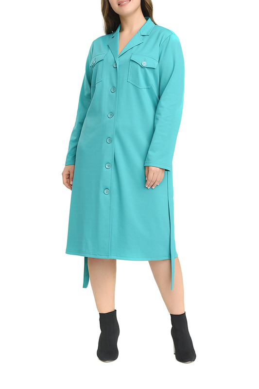 Платье женское SVESTA R934TUR голубое 50 RU фото
