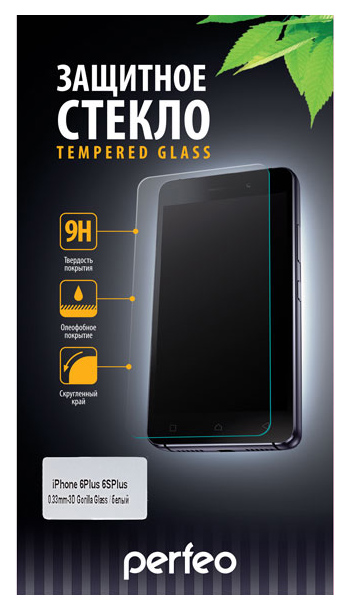 Защитное стекло Perfeo для Apple iPhone 6 Plus/iPhone 6S Plus White
