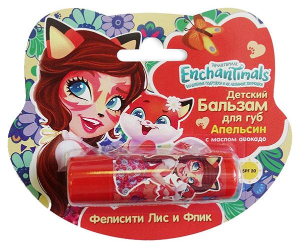 Купить Детский бальзам для губ Enchantimals Апельсин с маслом авокадо Gk-48/1, Детские бальзамы для губ