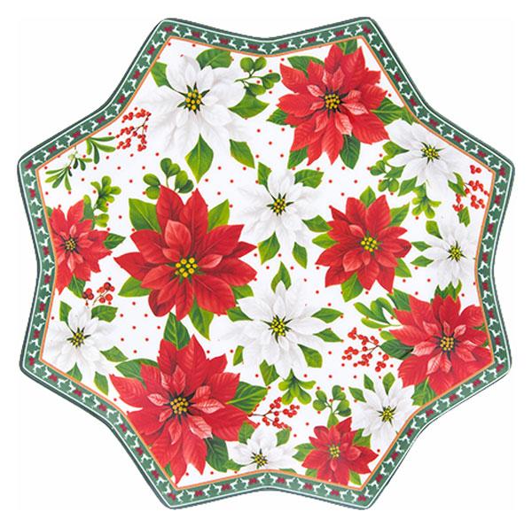 Блюдо Elan Gallery 420203 Белый, зеленый, красный