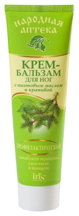 Крем для ног IRIS Народная аптека Пихтовое масло и Крапива 100 мл