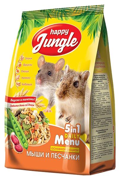 Корм для мышей, песчанок Happy Jungle Happy
