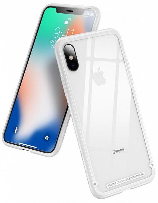 Чехол Baseus See-through Glass (WIAPIPH65-YS02) для iPhone Xs Max (White)